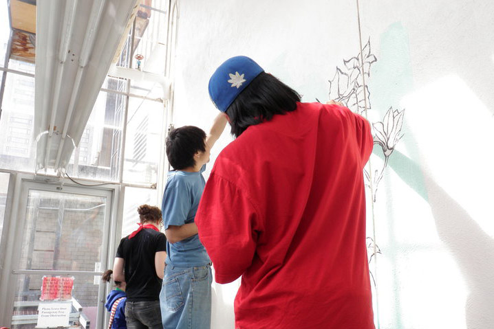 activities - youth-drawing-on-wall
